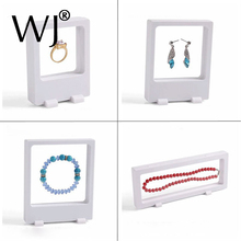 Special Offer 4pcs/lot Transparent Floating Display Stand Holder Box for Jewelry Ring Pearl Necklace Earrings Bracelet Chian Set