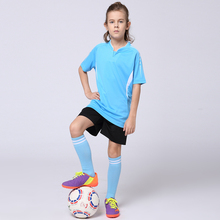 Boys and Girls Blank Soccer Jerseys Sets Youth Kids Blank Football Jerseys+Shorts Kits Customized Team Uniforms Training Suits