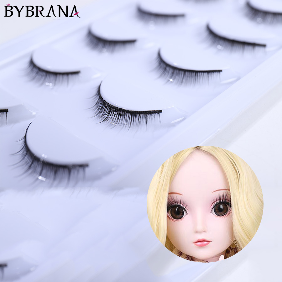 3Pairs Curly False Doll Eyelashes For 1//4 BJD Girl Dolls Eye Makeup DIY