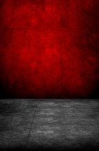Custom vinyl print cloth red wall concrete floor photography backdrops for model photo studio portrait background props F-654