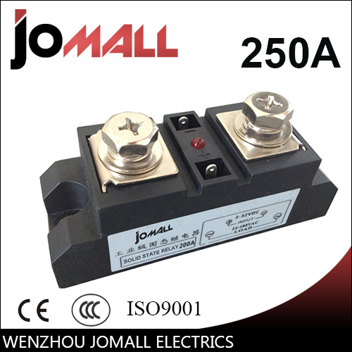 250A Input 70-280VAC;Output 24-480VAC Industrial SSR Single phase Solid State Relay<br>