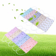 10Pc/Sets Non-woven Cute Pattern Disposable Medical Breathable Anti-dust Mouth Masks Ear loop Mask Dustproof Face Mask Tools