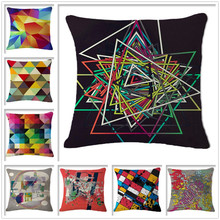 Relax Throw Pillow Cover 3D 1 Side Printing Cotton Linen Shape And Beans Cushion Cover For Bed 45cm*45cm Square Pillowcases