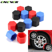 Onever 20pcs 17/19mm Car Wheel Hub Rim Screw Cover Nut Caps Silicone Hexagonal Wheel Nuts Bolts Dust Cap for BMW Toyota VW Ford(China)