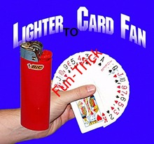Free Shipping lighter to card fan  - Magic Trick , Close Up Magic