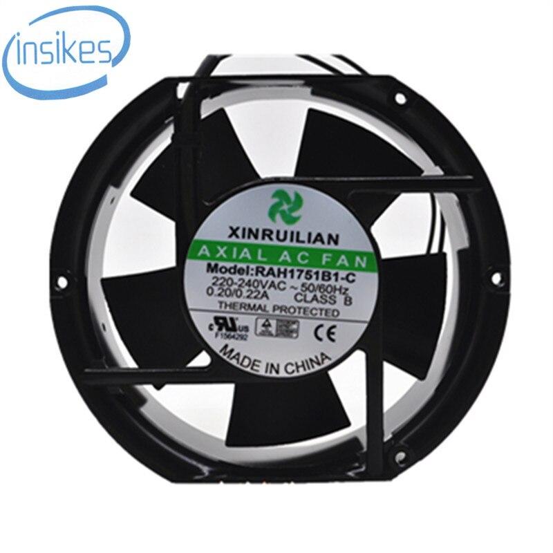 RAH1751B1-C Inverter Cabinet Cooling Fan AC 220V 0.22A 17251 17CM 172*150*51mm 2 Wires 50/60HZ <br>