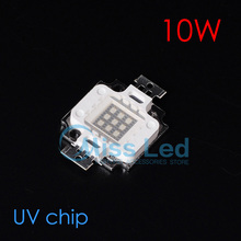 Wholesale 10w UV led chip hight power Purple color 395nm-400nm DC10-12V for Plant Growing light