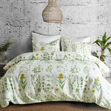 LOVINSUNSHINE Comforter Bedding Sets King Flower Duvet Cover Sets Cotton Green Bedding Queen AI02#(China)