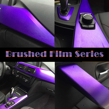 Metal Brushed Finishing Aluminum Vinyl Wrap Purple Car Wrapping Metallic Brushed Steel Wrap Film With Air Release 1.52*20M/Roll