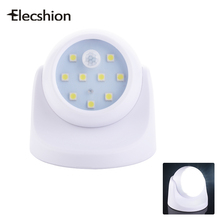 Elecshion LED SMD Wireless Motion Sensor E27 Night Light Battery Emergency Lamp Rotating Head For Angled Use Baby Room Bedroom