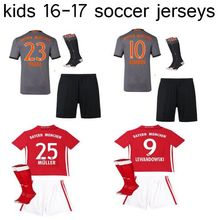 gt -Thai Quality kits Camiseta de futbol 16 17 kid soccer Jersey bayErned muNiched shirt+pants+socks kids football kits jfgd CD