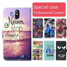 Buy Fashion cartoon printed flip wallet leather case HomTom S16 Card Slot phone bag book case,free gift for $3.99 in AliExpress store