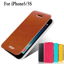Brand Mofi Phone Case Cover For Apple iPhone 5S 5G Cell Phone Case For iPhone 5S  Flip Leather Case Cover For iPhone5 5s