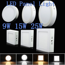 9W 15W 25W Round/Square Surface Mounted LED Ceiling Light Panel Light Down Light AC85-265V LED indoor Light