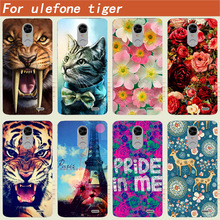 "For Ulefone tiger Case Cover DIY Tiger Owl Rose Cat Eiffel Tower Hard Plastic Cover Case For Ulefone tiger 5.5"" Capa Coque Funda"