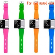 Free shipping Wrist Strap Watch Band for iPod nano 6 for ipod nano6  With Retail Package 9 colors for nano6 case funda coque