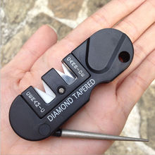 Multifunctional portable Two Stages (Tungsten steel & Ceramic) Diamond Kitchen Knife Sharpener Tools,Sharpening Stone