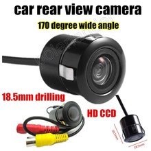 Best selling Drilling 18.5mm 170 Degree wide viewing angle car reverse CCD Backup Parking auto rear view camera