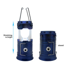 EU Plug Folding Portable Camping LED Lamps Flexible Lanterns Solar Rechargeable Powerful Lightweight Lamp Waterproof Flashlight