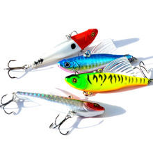 JTLURE 4pcs 13.5g 6.4cm winter fishing lure hard bait VIB with lead inside sea fishing tackle diving swivel jig wobbler lure(China)