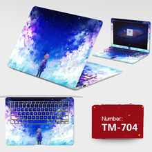 Latest Laptop Stickers Dustproof Notebook PVC Skins Decal ABC Sides+Keys+Key Interstice Stickers For Lenovo Y40 All Cover Case