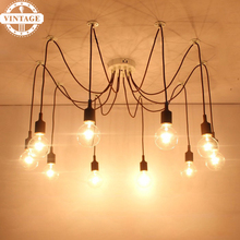 E27 Bulb Holder Lamps Modern Pendant Lights Colourful DIY Lighting Multi-color Silicone Home Decoration 4-12 Arms Fabric Cable(China)