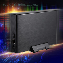 "Super Speed 3.5"" SATA SSD HDD Hard Disk Drive to USB 3.0 Converter Adapter Card External Enclosure Case Caddy + A-B Cable"