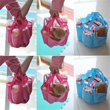 Multifunctional Separate Bag Bottle Storage Maternity Handbag Baby Diaper Organizer Sundries Storage 22x18x20cm