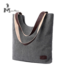 Plain canvas tote bag women fashion shoulder canvas tote bag quality linen shoulder bag women book bag(China)
