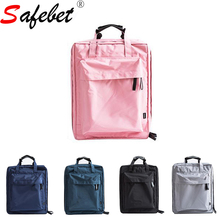 39*29*14CM Fashion Travel Organizer Backpack Luggage Storage Bag Suitcases Packing Cubes Solid Garment Pouch Zipper Men Women(China)