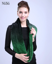 Solid Women's Scarf Guarantee Import Mink Material Real Jasper Soft Comfortable As Gift Send To Friend Mather 130 cm ET4030-9