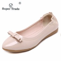 Spring Summer Ladies Shoes Ballet Flats Women Flat Shoes Woman Ballerinas Black Large Size Casual Driving Shoe Wholesale ST526