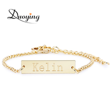 Buy DUOYING Brand Baby 25*6 mm Bar Bracelet Custom Engraved Name Bracelet Personalized Initial Bracelet Baby Etsy eBay Supplier for $6.64 in AliExpress store