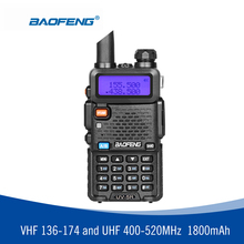 BAOFENG UV-5R Walkie Talkie Professional CB Radio Baofeng UV5R Transceiver 128CH 5W VHF&UHF Handheld UV 5R For Hunting Police(China)