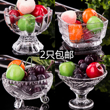 Shipping seckill transparent glass bowl milkshake cup tall dessert bowl of ice cream bowl bowl of ice cream cups creative snacks