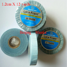 Super Lace Frontal Wigs Glue Tape For Hair 12 Yards 1.2cm Adhesives Toupee Tape For Tape In Skin Weft Hair Extensions Glue