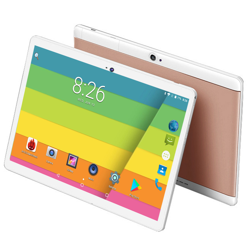 New Tab 10 inch Octa Core 64GB Tablet Andorid 8.0 tablet 10.1 4GB RAM 1280X800 IPS Dual SIM Cards Computer Tablets 4G FDD LTE