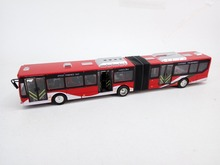 Strong Alloy double bus, 28Cm length Die cast double Bus Model, with light and sound, Pull Back Left door open. free shipping(China)