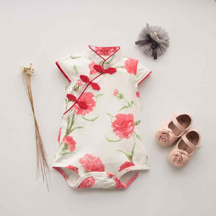 32c65314ec4a Detail Feedback Questions about MUQGEW Toddler Baby Girls Rose Flower Print  Sleeveless Cheongsam Chinese Style Romper for newborn girls jumpsuit  clothing ...