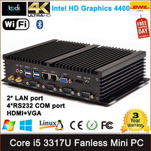 [CE&FCC&ROSH]Dual LAN Mini PC Windows 7 Dual Nic Fanless Mini PC RS232 COM Port Intel Core i3 industrial PC with Debian/Windows