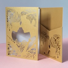 30pcs Paper Craft Tree Folded Love Couple Postcards Gatefold Engagement Wedding Invitation Cards Celebrating Card Place Card(China)
