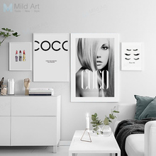 Modern Fashion Quotes Beautiful Sexy Girl Posters Printed Wall Art Picture Nordic Style Home Decoration Canvas Painting No Frame(China)