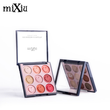 MIXIU Brand professional 9 Colors matte Shadow Palette glitter Color Soft and Delicate Mixed Wet dry nude Eye Shadow Makeup(China)