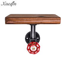 Loft American Country Style Wrought Iron Wall Shelf Shelves Retro Industrial Pipes Simple Fashion Display-z30 Easy To Use Bathroom Shelves
