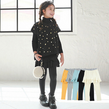 2017 Fall New Baby Clothes for Girls Child Princess Girls Skirts Pants Solid Color Leggings Pastoral Bottoms Culottes(China)