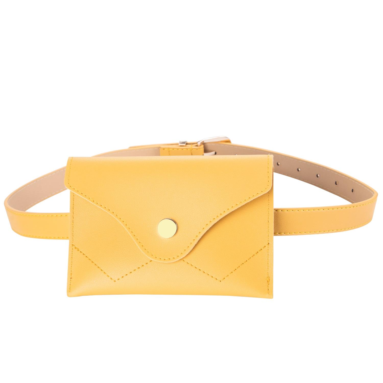 Barry.Wang Fashion 110cm Light Female Yellow Belt Dual Use Buckle Pin Buckle Belt Women Bag For Women Skite Jeans Pants PDB-2011