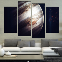 4 Pcs/Set Large Abstract The Jupiter Giant Red Spot Canvas Print Painting  Modern Still