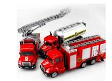 Spray Water Gun Toy Truck Firetruck Juguetes Fireman Sam Fire Truck Vehicles Car Music Light Cool Educational Toys for Boys Kids(China)