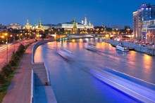 Russia Moscow Houses Rivers Night Cities Scenery Landscape Fabric Silk Poster Print Home Decoration B0402-30(China)