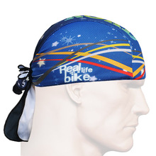 2016 Ocean Bicycle Bike Bandana Pirate Hat blue Perspiration Headband Scraf Gorras unique Outdoor Sports Headwear Cycling Cap(China)